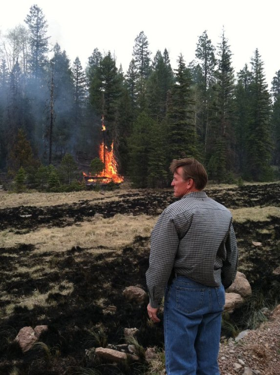 Congressman Gosar surveying wildfire damage